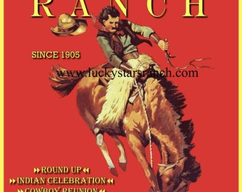 101 Rodeo Cowboy Cowgirl  Rodeo 18x24 Vintage Print