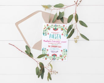 Floral Fiesta invitation | Fiesta | Fiesta Invitation | Fiesta Birthday | Fiesta Birthday Invitation | Fiesta Party