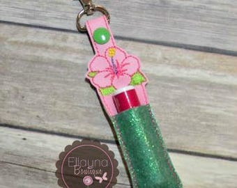 Lip Balm, Chapstick, Flash Drive, USB Drive Holder - Hibiscus