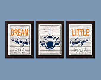 Airplane Baby Shower Gift, Airplane Nursery, Aviation Wall Art, Dream Big Little One Print, Boys Bedroom Wall Art, Airplane Nursery Decor,
