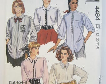 McCall's 4484 Misses' Shirt Sewing Pattern Sizes 10 - 14 Uncut