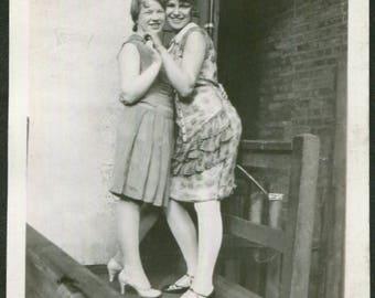 Vintage Photo..Cheek to Cheek, 1930's Original Found Photo, Vernacular Photography