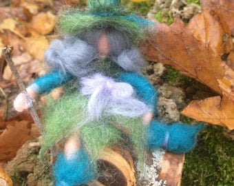 Little fairies or elf miniature in style waldorf. mate to order