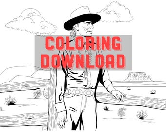 Navajo coloring page instant download