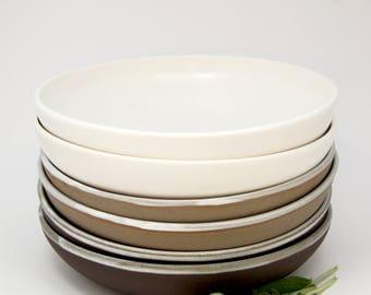 Ceramic pasta bowl - hand thrown ceramic meal bowl