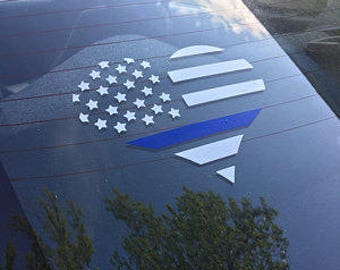 Thin Blue Line Flag, Police Decal, Blue Lives Matter, Law Enforcement, Sheriff Deputy Wife, Police Wife, Police Girlfriend, Blue Line Flag