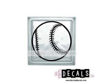 Baseball/Softball - Sports and Athlete Vinyl Lettering for Glass Blocks