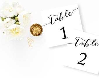 Classical Black and White Wedding Table Number - Minimalist Wedding Table Names - Chic Wedding Invitation - Elegant Wedding - Wedding table