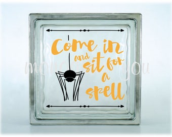 Personalizing Life By MonogramYou On Etsy - Halloween vinyl decals for glass blocks