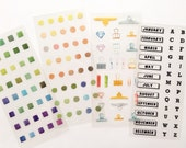 Planner Labeling Stickers Sheet