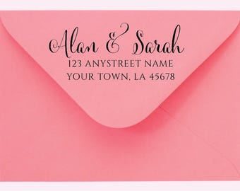 Personalized Custom Family Name Return Address Stamp - Great Wedding, Newlywed, Housewarming, New Home, Gift! Self inked, Pre-inked RE933