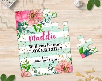 Will You Be My Flower Girl Puzzle Will You Be My Bridesmaid Flower Girl Proposal Be Our Flower Girl Asking Bridesmaid Ask Flower Girl Gift