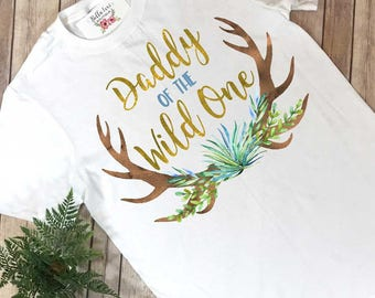Daddy of the Wild One, Wild One Birthday, Daddy and Me Outfits, Family Shirts, Wild One Party, Dad of the Wild One, First Birthday,1st bday
