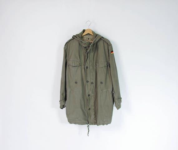 SALE - 1966 Val. Mehler German Army khaki parka jacket / size M-L