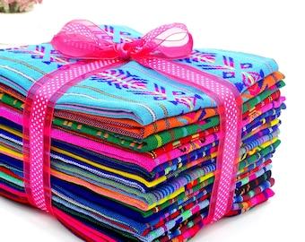 Mexican fabric, 20 Half yards , Fiesta Decoration, Free shipping