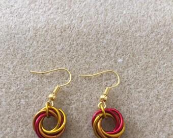 Fire Mobius Earrings
