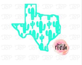 Texas Cactus Decal, Teaxan, Cactus Vinyl decal, Car Decal, Yeti Decal