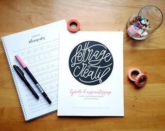 Guide d'apprentissage et d'exercices - Lettrage créatif au crayon pinceau