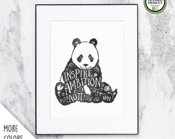 Alpha Omicron Pi | Inspire Ambition | 8x10 Watercolor Print | Sorority Big Little Reveal Gift | Officially Licensed | AOP-810