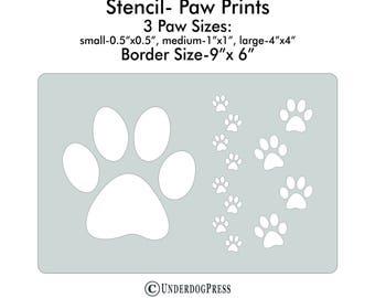 XL Stencil - Paw Prints