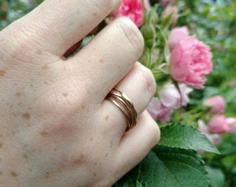 Twisting Branches Ring in Bronze or Sterling Silver