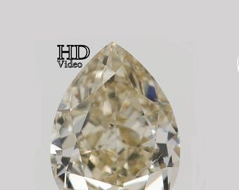 0.61 Ct Natural Loose Diamond Cut Pear Light Brown Color 6.00X4.50X3.10 MM L7855