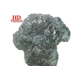 1.67 Ct Natural Loose Diamond Rough Greenish Blue Color 7.64X6.94X4.64 MM L1701
