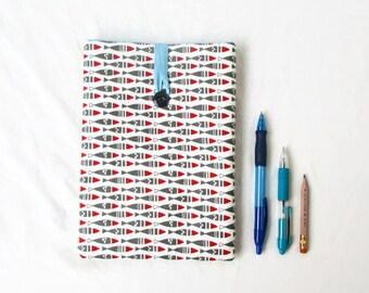 Ipad mini 4 cover, 8 inch samsung galaxy sleeve, IPad mini 4 case, padded fabric tablet sleeve, ipad mini cozy, handmade in the UK