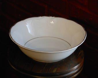 Royal Kent Poland Embossed White Bowl w/ Gold Trim