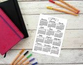 Printable 2018 Calendar A4 & A5 year to view (jpeg and PDF) Hand Drawn. BUJO, Bullet Journal, Happy Planner, Kikki K, Mambi, Passion Planner