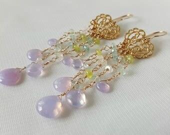 Scorzalite Chandelier Earrings