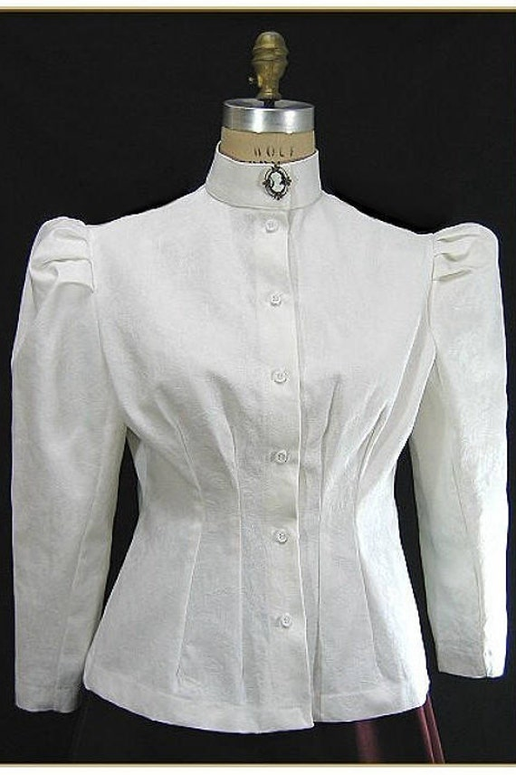 Make an Easy Victorian Costume Dress with a Skirt and Blouse Jacquard Victorian BlouseJacquard Victorian Blouse $59.00 AT vintagedancer.com