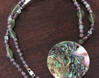 Abalone and Dentalium Necklace