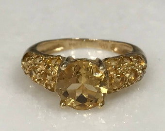 Loevly 14k Yellow Gold and Yellow Stone Ring