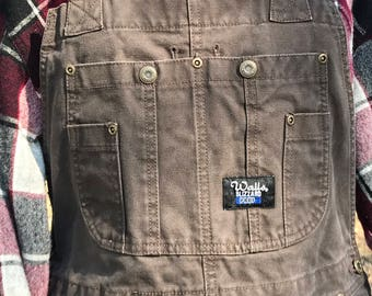 Walls Insulated Overalls Blizzard Pruf/Heavy Weight/Flannel Lined/Mens Medium Regular/1990s/Lumberjack/camping/hiking/work/mechanic