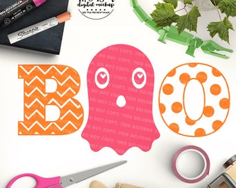 Ghost svg, Baby Halloween svg, Boo svg, Halloween Cut File, Cute Ghost svg, eps, dxf, png Cut Files for Silhouette for Cricut