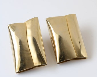 Gold Clip On Earrings - Large Gold Clip On