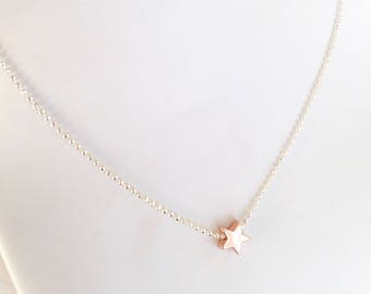 925 silver necklace with mini star