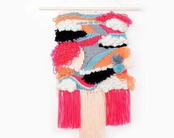 Weave wall hanging, Wall decor, Weaving, Tapestry, Fiber Art, Handwoven, wallhanging, Wall Art, Handmade