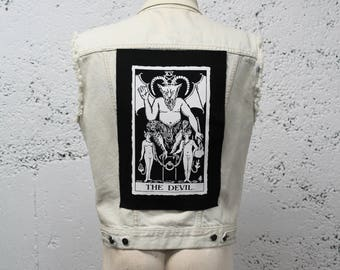 The Devil Tarot Card Back Patch - Big Backpatch