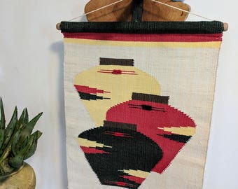 Vintage Hand Woven Wall Hanging