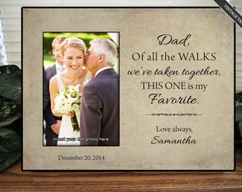 Black Dad of all the walks we've taken together, dad gift, personalized frame, father of the bride gift, wedding gift for dad, wedding frame