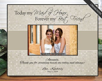 Personalized Maid of Honor Frame | Maid of Honor Gifts | Bridesmaid Gifts | Custom Wedding Frame | Bridesmaid Frame