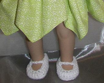 AG - Crocheted Mary Jane Shoes for American Girl Dolls