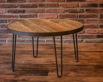 Reclaimed Wood Table with Hairpin Legs- Free Shipping