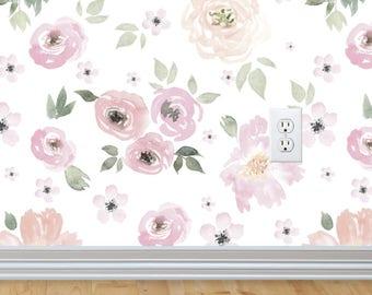 Floral Wallpaper Best Floral Wallpaper  Etsy Design Decoration