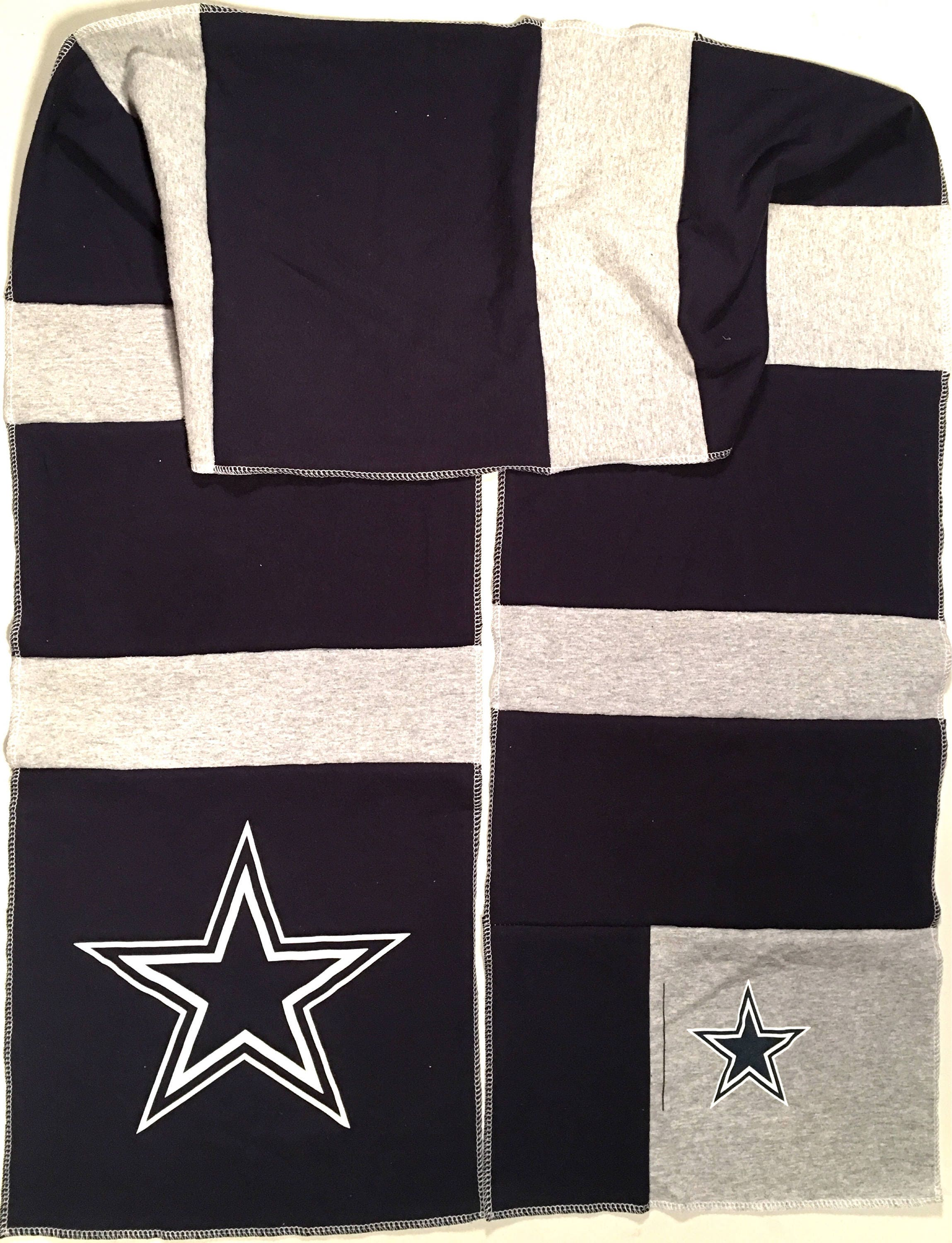 Long Scarf DALLAS COWBOYS Football NFL Team Spirit Upcycled Men's Woman's Unisex T-Shirt New Handmade Scarves