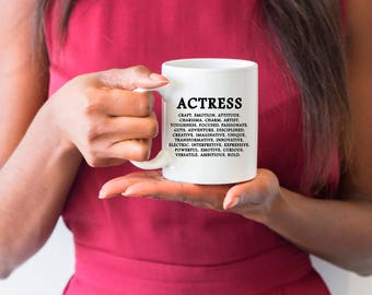 Actress Gifts, Actress Mug, Actress, Definition, Actress Coffee Mug, Acting Mug, Actress Quotes, Actress, Theatre Student, Theatre Quote