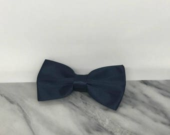 Navy Blue Dog Bowtie for Wedding Pet Outfit  Wedding Dog Bow Tie Dog Collar
