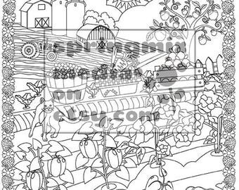 Cat Coloring Page Minkas Journey Animal And Nature Pages To Color Farm